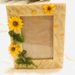 Handpainted A. Richesco SUNFLOWERS photo frame